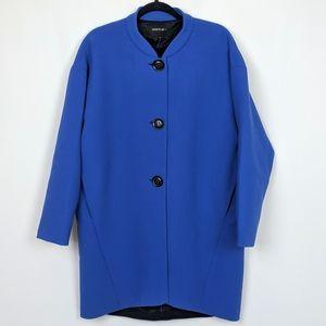 Lafayette 148 Virgin Wool Three Button Overcoat